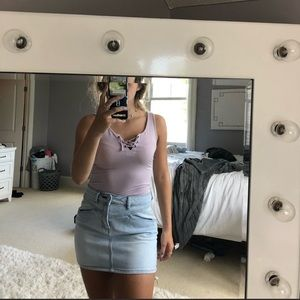 WORN ONCE! American Eagle lilac tank top